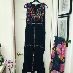 Dresses & Skirts - Indigo Maxi with Embroidery